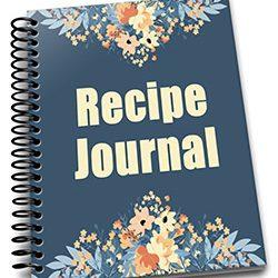 Navy Peach Recipe Journal