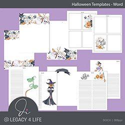 Halloween Word Templates