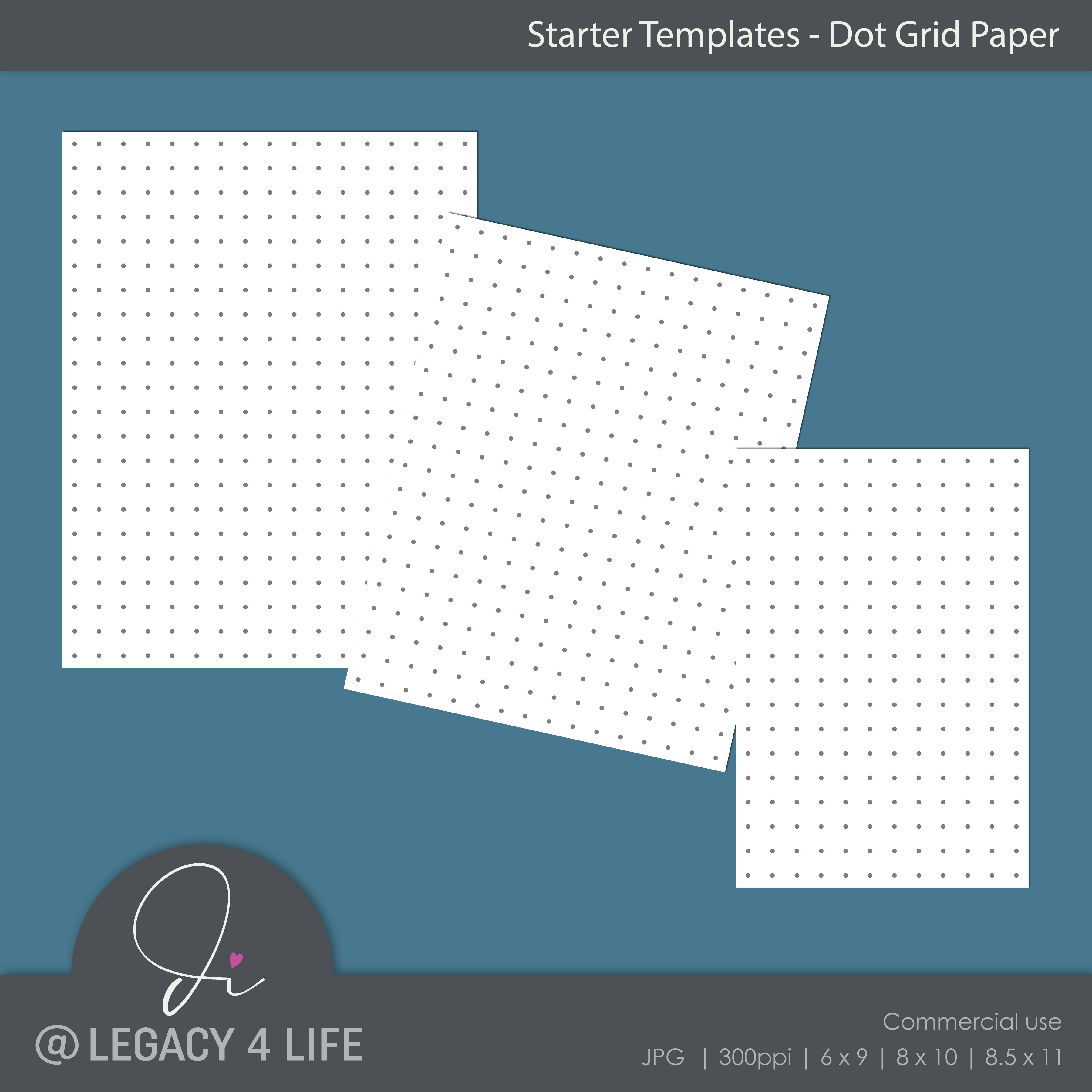 Starter Templates – Dot Grid Paper | PLR Planners - Build a ...