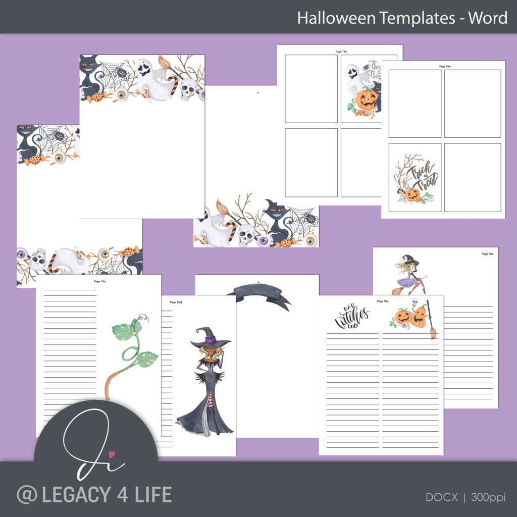halloween word templates plr planners build a publishing empire