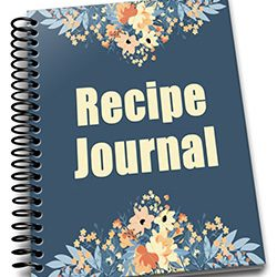 Navy Peach Recipe Journal