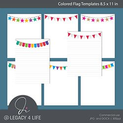 Colored Flag Templates