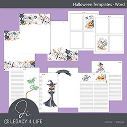 Halloween Word Templates