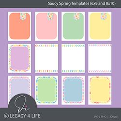 Saucy Spring Templates