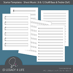 Starter Templates – Sheet Music