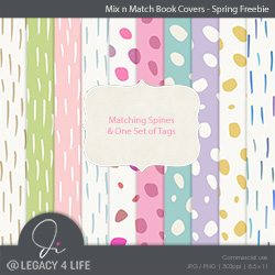 Mix n Match Spring Freebie Book Covers