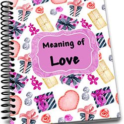 Meaning of Love Kid's Valentines Journal