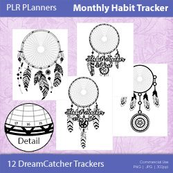 Monthly Habit Trackers