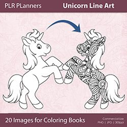Unicorn Line Art