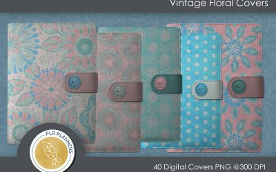 Vintage Floral Digital Covers
