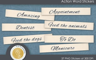 Action Word Stickers – Free