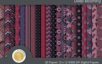 Deep Blooming Paper Pack