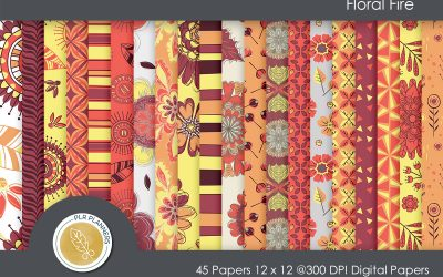Floral Fire Paper Pack