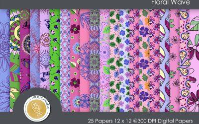 Floral Wave Paper Pack