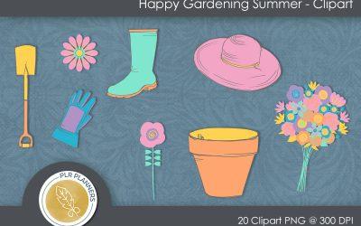 Happy Gardening Summer Clipart