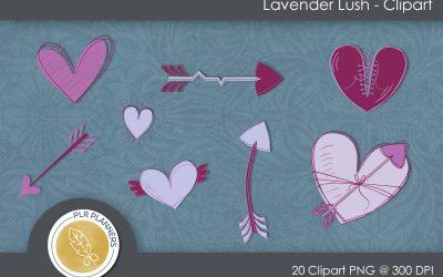 Lavender Lush Clip Art