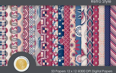 Retro Style Paper Pack