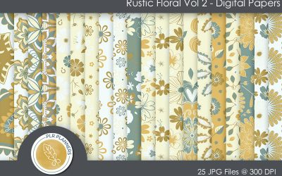 Rustic Floral Paper Pack
