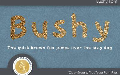 Bushy Font