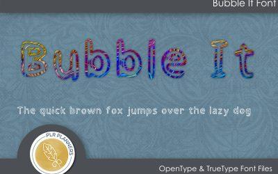 Bubble It Font