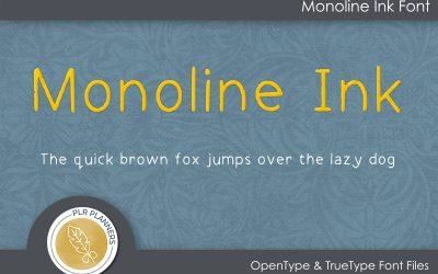 Monoline Ink Font