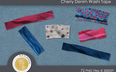 Cherry Denim Washi Tapes