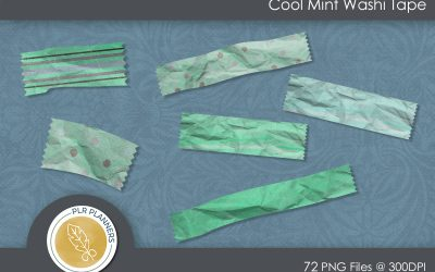 Cool Mint Washi Tapes