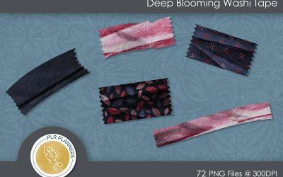 Deep Blooming Washi Tapes