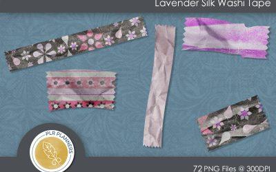 Lavender Silk Washi Tapes