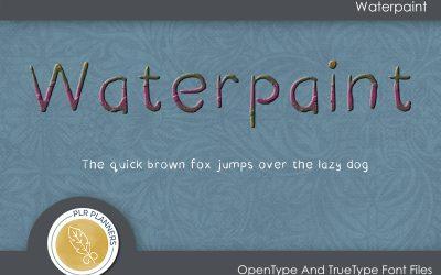 Waterpaint Font