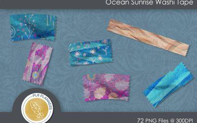 Ocean Sunrise Washi Tapes