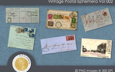 Vintage Postal Ephemera Vol 002