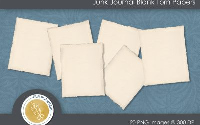 Junk Journal Blank Torn Papers