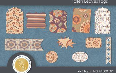Fallen Leaves Tags Pack
