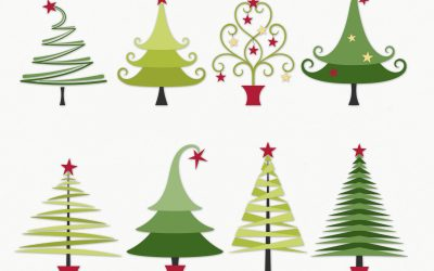 Festive Trees Layered Templates