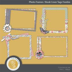 Book Tags / Photo Frames Freebie