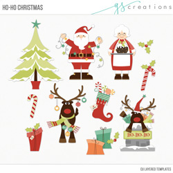 Ho-Ho Christmas Layered Templates