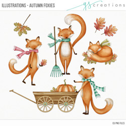 Illustrations Autumn Foxies