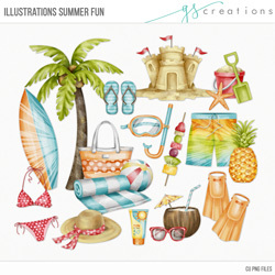 Illustrations Summer Fun
