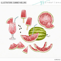 Illustrations Summer Melons