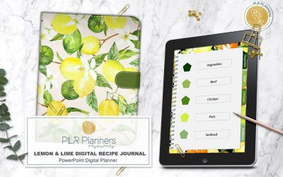 Lemon & Lime Digital Recipe Journal