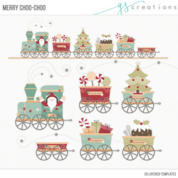 Merry Choo-Choo Layered Templates