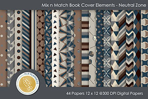 Mix n Match Book Cover Elements – Neutral Zone