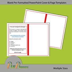 Blank Pre-formatted PowerPoint Cover & Page Templates