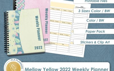 Mellow Yellow 2022 Weekly Planner