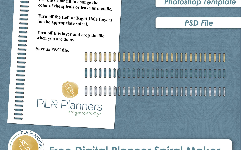 Digital Planner Spiral Maker