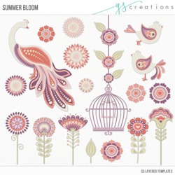 Summer Bloom Layered Templates