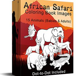 African Safari Coloring Images