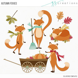 Autumn Foxies Layered Templates