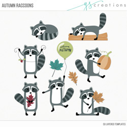 Autumn Racoons Layered Templates